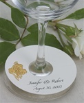 Paper Custom Wine Glass Name Tag