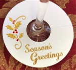 Seasons Greetings Wineglass Tags for the holidays