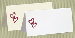 Embossed Hearts, Plum Foil