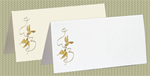 Embossed Doves, Gold Foil