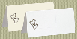 Embossed Hearts, Silver Foil