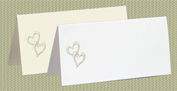 Embossed Hearts, White Pearl Foil