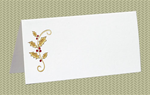 Place Cards, Holly, Gold Foil, 10 Place Cards