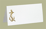 Place Cards, Ships Anchor - Gold Foil, 10 Place Cards