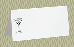 Place Cards, Martini, 10 Place Cards