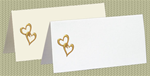 Embossed Hearts, Gold Foil