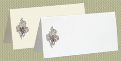 Embossed Grapes with Leaves, Silver Foil