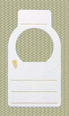 Wine Cellar Tag, Gold Accents, 100 Tag Package