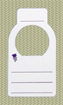 Wine Cellar Tag, Purple Accents, 100 Tag Package