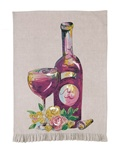 RED WINE KITCHEN TOWEL BY JUILA JUNKIN