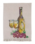 WHITE WINE KITCHEN TOWEL BY JUILA JUNKIN