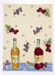 VINTAGE WINES KITCHEN TOWEL BY JUILA JUNKIN