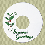 Seasons Greetings Wineglass Name Tags for the holidays!
